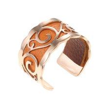 Legenstar ajustable Rose Gold Bague anillo de cuero intercambiable para mujer hoja elegante Bijoux Femme anillo de dedo Bijoux 2019