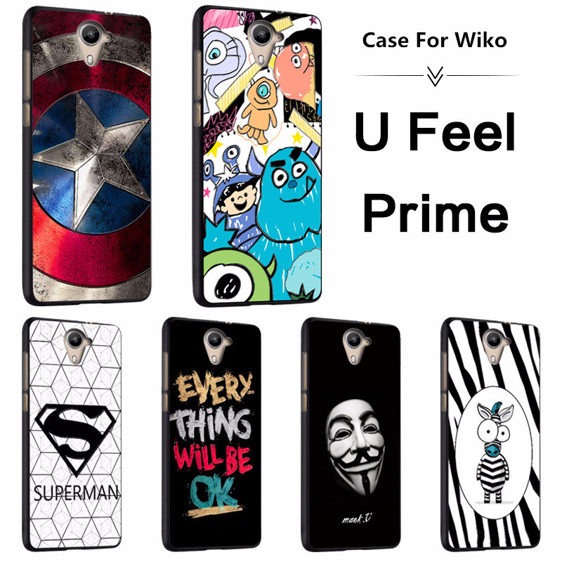 2018 Promotion Real Cartoon Fastion For Wiko U Feel Prime,tpu Material Case.6 Colors!mobile Phone Bracket Case,more Practical!