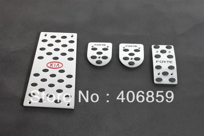 High quality stainless steel manual clutch Throttle brakes rest Foot pedal For 2009 2012 KIA Cerato