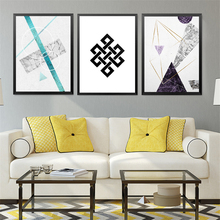Nordic Art Abstract Canvas Painting Geometry Wall Picture Modern Room Decor HD2253