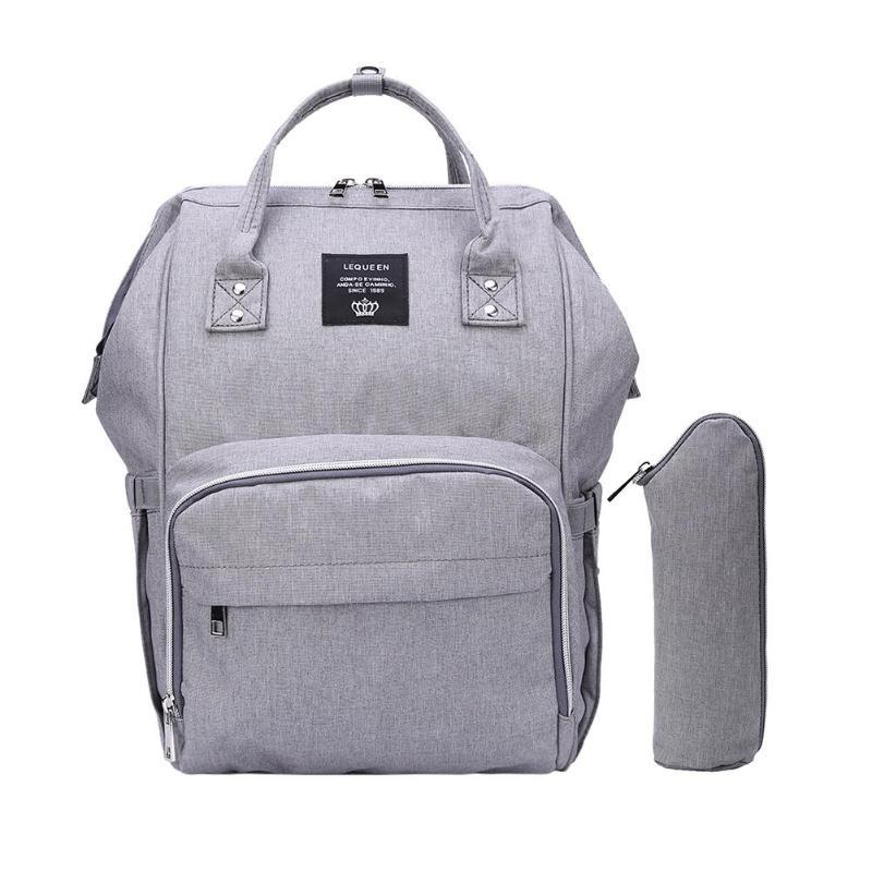 LEQUEEN Fashion USB Mummy Maternity Diaper Bag Large Nursing Travel Backpack Designer Stroller Baby Bag Baby Care Nappy Backpack