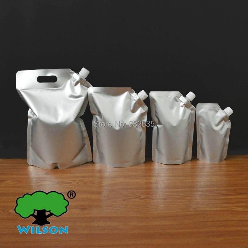 (250 ML) SALB-250 Aluminum Foil Mylar Stand UP Spout Bag 20 PCS (5.9 mils ),Sauce Laundry detergent Bathing Dew Sauce Jelly Bag