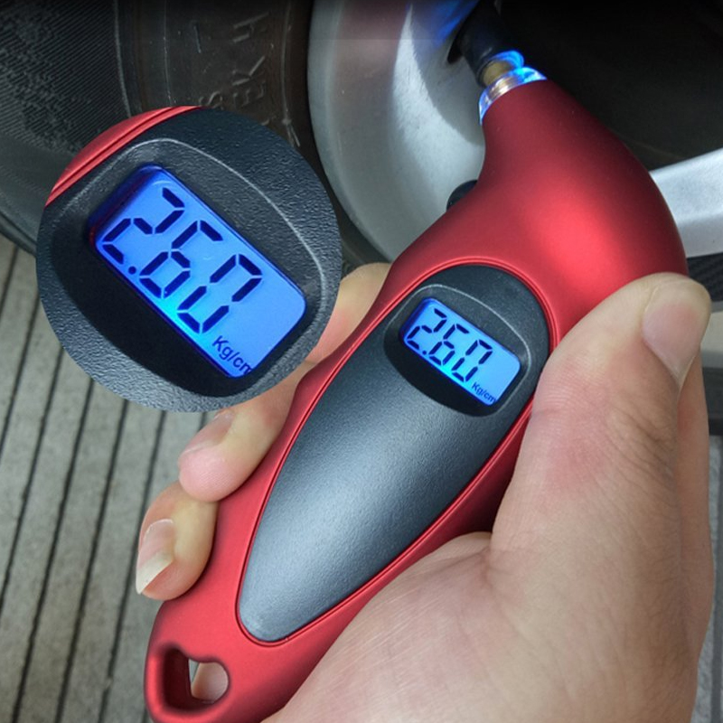 2018 New Digital Car Tire Tyre Air Pressure Gauge Meter LCD Display Manometer Barometers Tester For Car Truck Motorcycle Bike