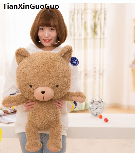 new arrival large 65cm font b cute b font brown bear plush toy down cotton teddy
