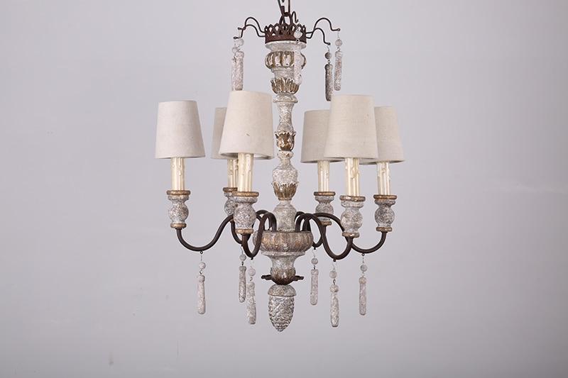Retro Art Woonkamer : American living room lamp old wood art retro pendant light cafe