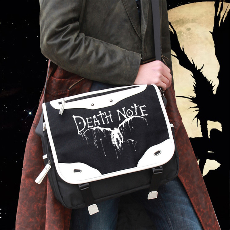 Anime Death Note L Logo Cosplay School Shoulder Bag Teenages Fashion Oxford Travel Crossbody Bag Mochila Escolar Bookbag диванная подушка death note raito l 35x45cm r125