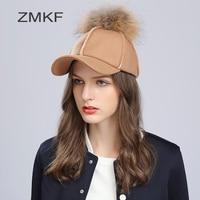 2017 ZMKF Good Quality Beret Cap Women Beret Hat Knitted Rabbit Beret Caps Comfortable Warm Winter