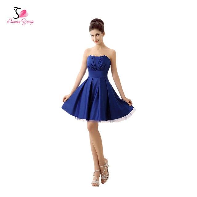 e8fa89c87 Robe De Soiree Satinado Vestido de Noche Corto Azul Banquete de Gala  Vestido Formal 2017 Vestido