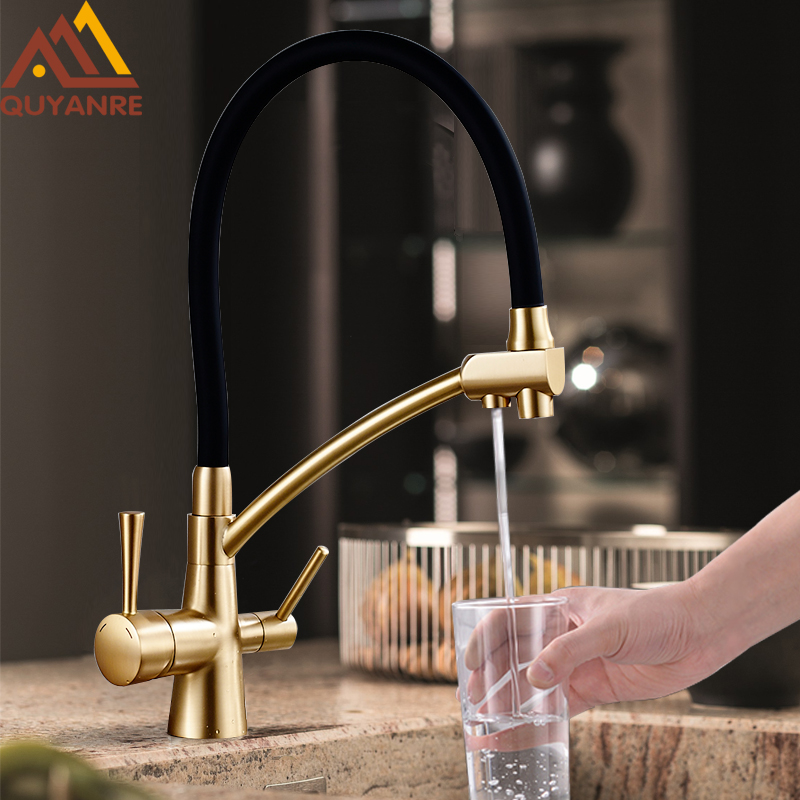 Quyanre Filter Kitchen Faucet Tap 3 In 1 Purifier Kitchen Drinking Filter Water Crane Tap For Kitchen Mixer Tap Filtered Tap