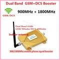 Горячая Двухдиапазонный GSM И DCS Усилитель 65db 2 Г GSM 900 DCS 1800 Мобильный Телефон Сигнал Повторителя 900 МГЦ 1800 МГЦ Booster Extender + Антенна