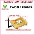 De Doble Banda GSM DCS 65db Amplificador 2G GSM 900 DCS 1800 Del Teléfono Móvil Repetidor de Señal 900 MHZ 1800 MHZ Booster Extender + Antena