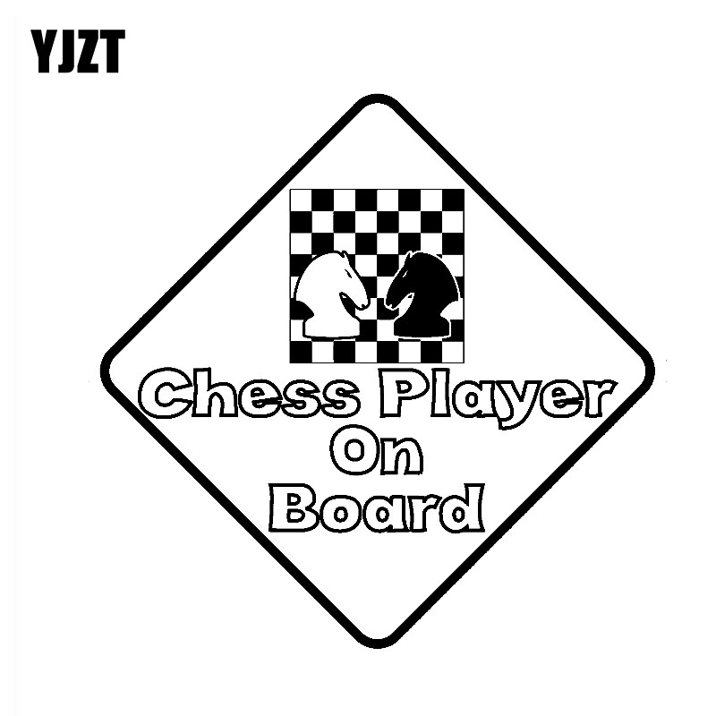 Yjzt 16cm16cm Chess Player On Board Magnet Sticker Vinyl Car Decal