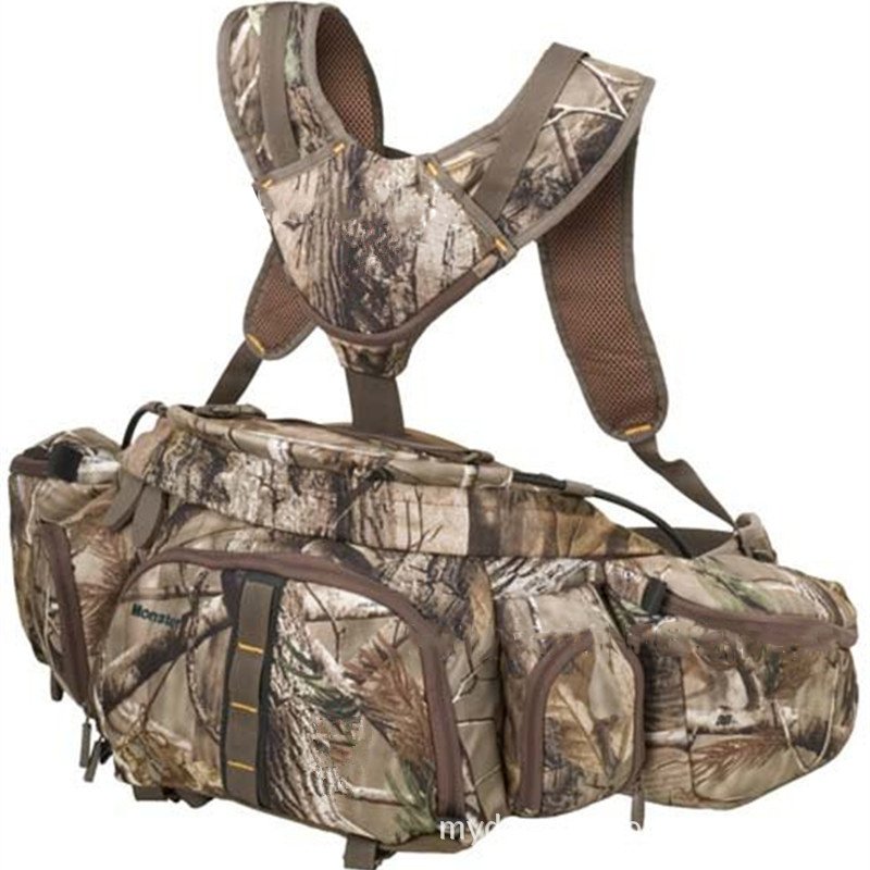 LumiParty Multifunctional Actical Molle Pack Backpack Camouflage Waist Bag Rucksack Fishing Hiking Camping Hunting Travelling lqarmy 3 day expandable backpack with waist pack large rucksack tactical backpack molle assault bag for day hiking tan