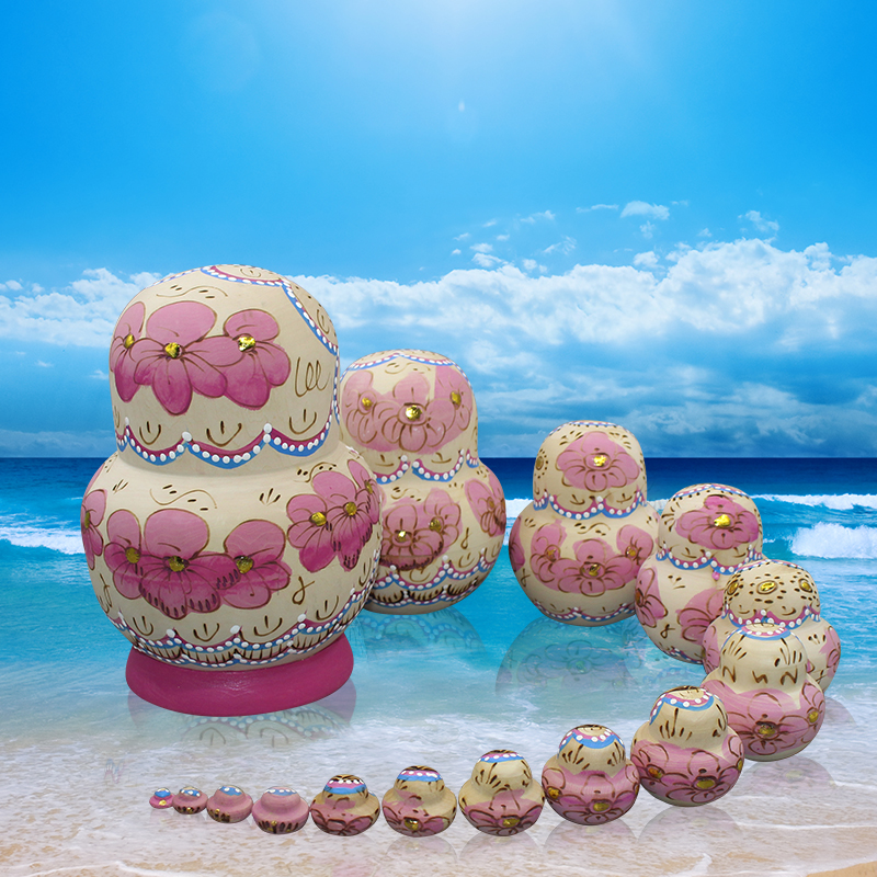 15 pièces/ensemble Matryoshka poupée peinte à la main russe nid poupée en bois jouets artisanat éducation jouets bébé anniversaire enfants - 2