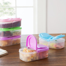 Food Container Plastic Lunch Box Portable Camping Picnic Folding Fruit Container Camping Picnic Fridge Microwave Storage Box