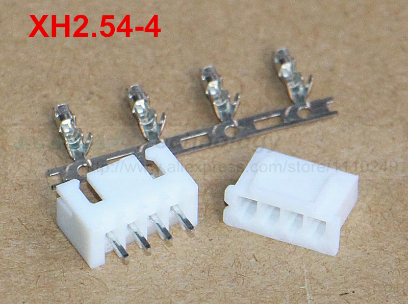 50set/lot XH2.54 - 4p 2.54 mm connector 50 pcs female housing + 50pcs male header + 200pcs terminal 2.54mm 4pin free shipping