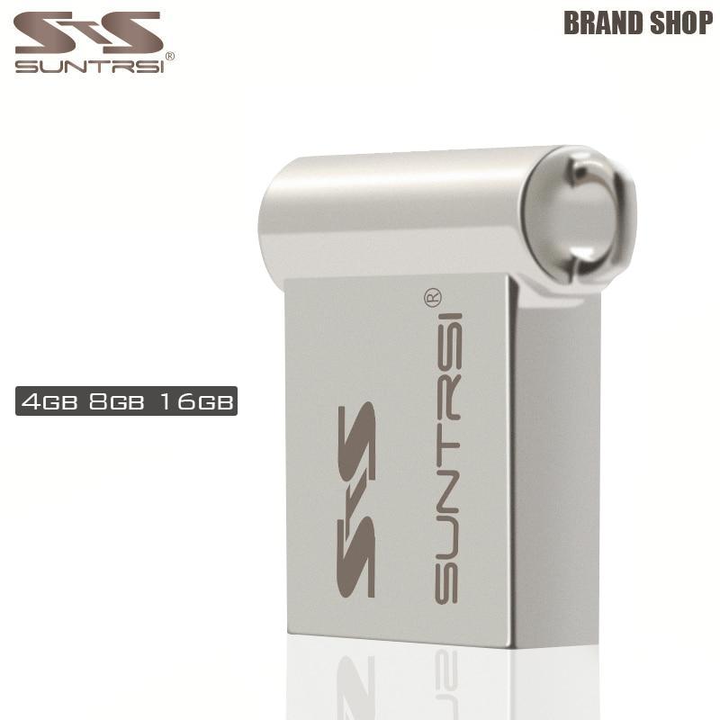 Suntrsi 2018 Metal Mini Pendrive 64GB USB Flash Drive 2.0 32GB/16GB /8GB/4GB Custom Logo Pen Drive High Speed Free Shipping suntrsi mini pen drive 32gb usb flash drive metal pendrive 100