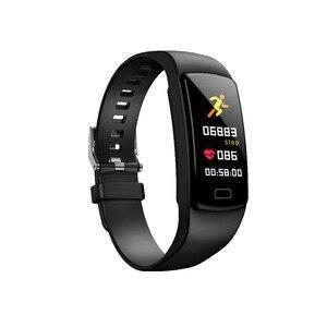 Image 2 - Banda inteligente pulseira Heart Rate monitor de pressão arterial à prova d água esportes de Fitness Rastreador smart watch para andriod ios moda Quente