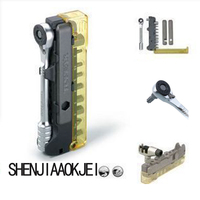1pc Ratchet socket wrench toolset Maintenance tools TT2521 Multifunction tire pry bar Portable mini tool set Easy use tool