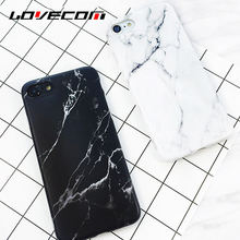 LOVECOM Black White Marble Vein Soft IMD Phone Back Cover Case For iPhone 6 6S 7 Plus Anti-Knock Cases For iPhone6 Shells Capa(China)