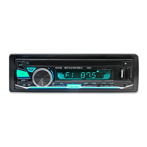 Image 2 - HEVXM 7003 Kleur Licht MP3 Speler Radio Auto MP3 Speler 12 v BT Auto Stereo Audio In dash Enkele 1 Din Aux Input