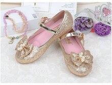 Musim Gugur Musim Semi Anak Anak Perempuan Putri kulit sepatu Flat Bowtie Kasual Sepatu Pesta Menari sepatu mahasiswa untuk anak perempuan 26-35