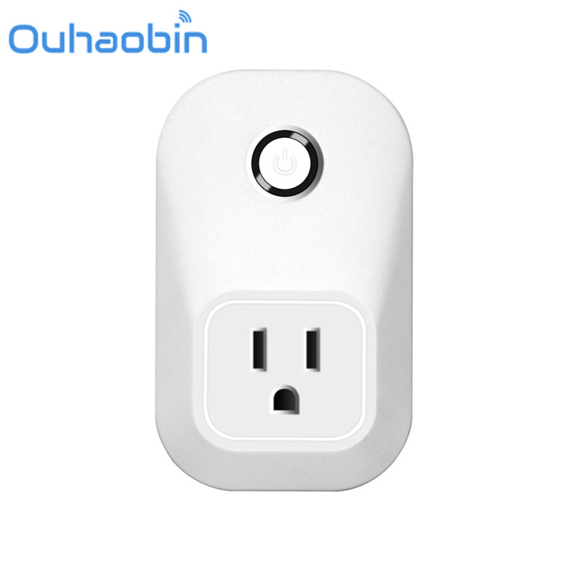 Ouhaobin Wireless US WiFi Phone Remote Repeater Smart AC Plug Outlet Power Switch Socket Gift Oct 18 Dropship