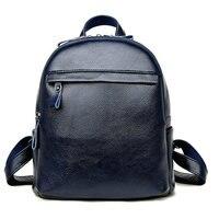 2019 Luxury Brands Natural Real Cow Backpacks Genuien Leather Backpack Shoulder Bag Female Backpack School Bag Travel Bag