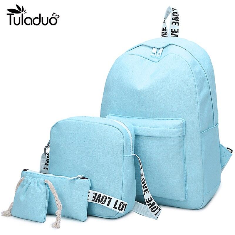 Waterproof Canvas Backpacks Women Travel Backbags Rucksack For Girls Teenagers Travel Backbag Fashion School Satchel Mochilas