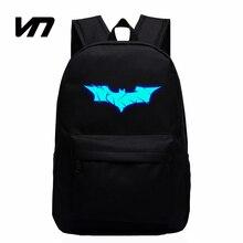 Vn герой человек-паук бэтмен рюкзаки школы лучший школьные мальчиков девочек супер
