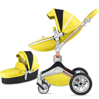 Free ship!new color  Hot Mom 2 in 1 Baby Stroller 360 degree Rotate baby carriage Luxury High Landscape Baby Pram EU Standard
