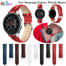 Replacement Leather Watch Bracelet Strap Band For Samsung Galaxy 46mm SM-R800 watch band leather gear s3 watchbands