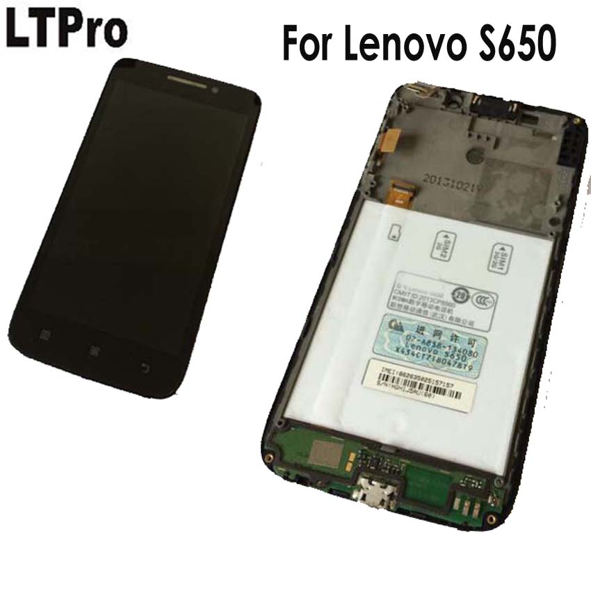 Buy LTPro 100% Working Top Quality LCD Display + Touch Screen Digitizer Assembly with frame For Lenovo S650 Repair Replacement Part for $21.99 in AliExpress store