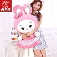 Plush toy bunny doll puppets white rabbit doll pillow rabbit doll large birthday gift girl child