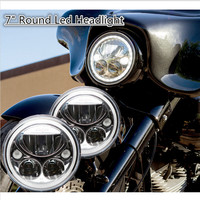 DOT ECE Emarked 7 Headlights Fit For Harley Electra Glides, Road Kings, Street Glides , Trikes , Indian ,Yamah a