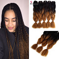 wholesale Ombre Kanekalon Braiding Hair 100g/pcs Synthetic Two Tone High Temperature Fiber Kanekalon Jumbo Braid Hair Extension