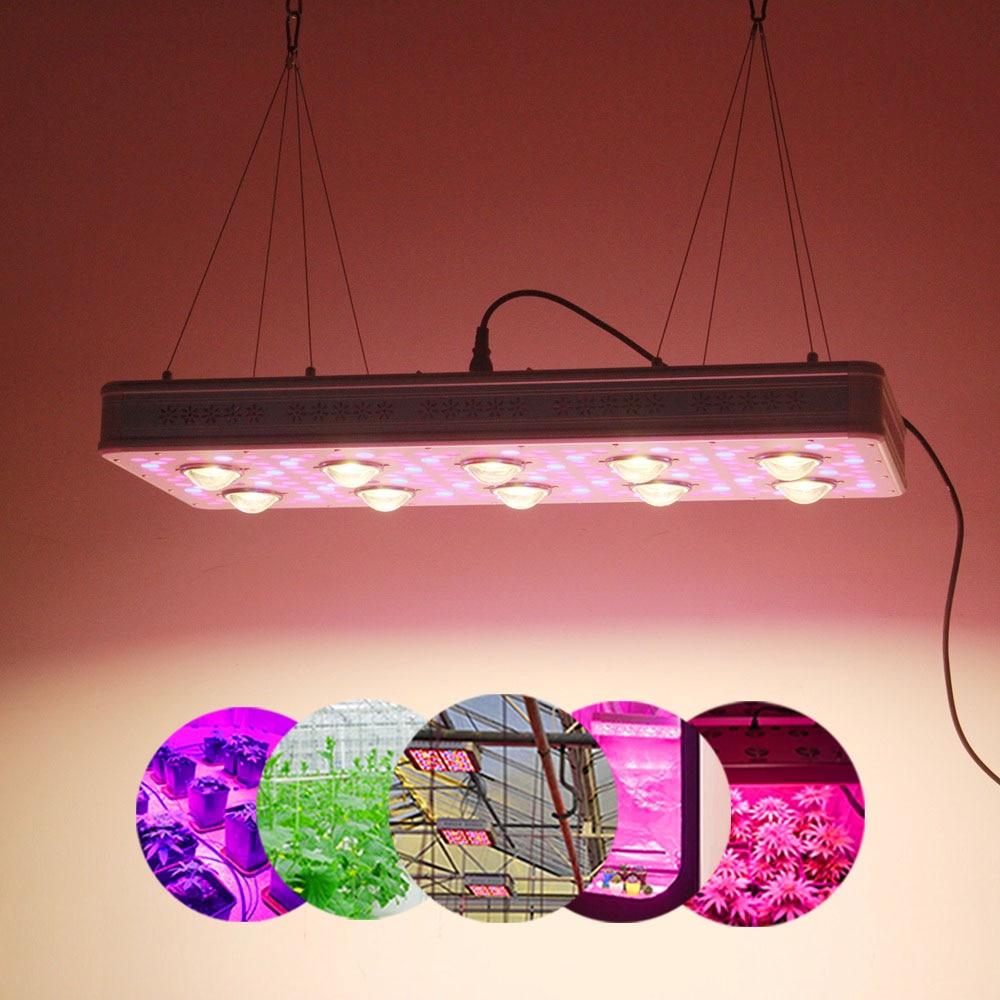 IDEA LIGHT LED Grow Light Elite 600W 900W Full Spectrum For Indoor Greenhouse Grow Tent Plants Grow Led Light Veg Bloom Mode