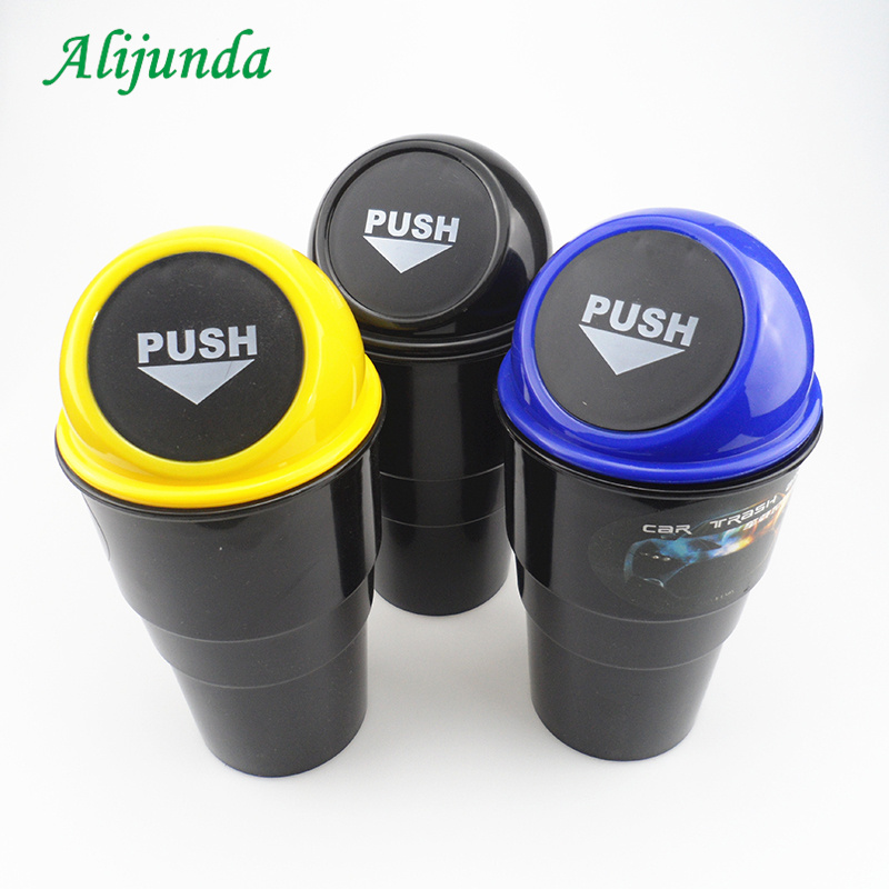 Hot Selling   Car Trash Can Garbage Dust Case Holder Bin Car-styling For Chevrolet Cruze TRAX Aveo Lova Sail EPICA Captiva