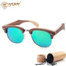 New Fashion Wood Sunglasses Polarized Handmade Ray Wooden Sun Glasses Brand Designer Eyeglasses For Men Women  W3036