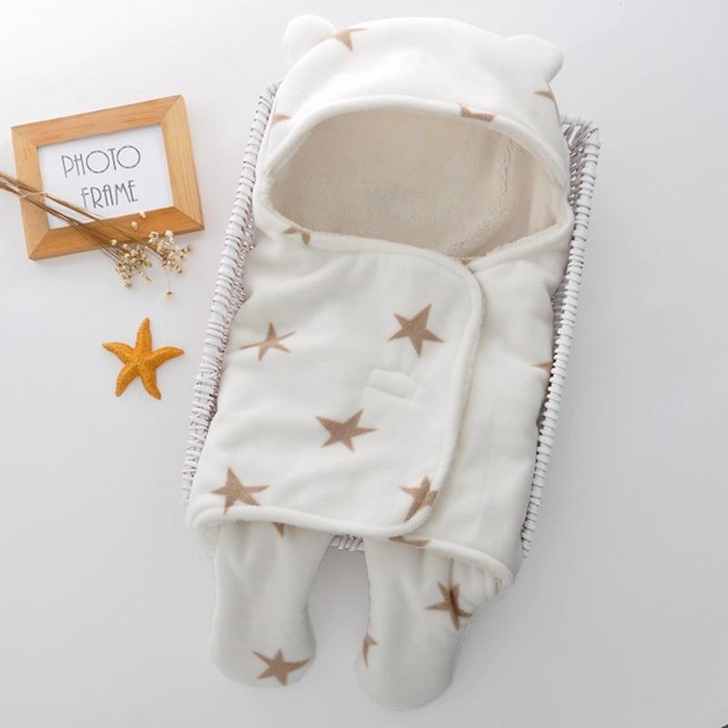 MOTOHOOD Baby Blanket Infant Thicken Flannel Swaddle Stroller Cartoon Winter Blanket Newborn Baby Bedding Blankets Sleeping Bag  (10)