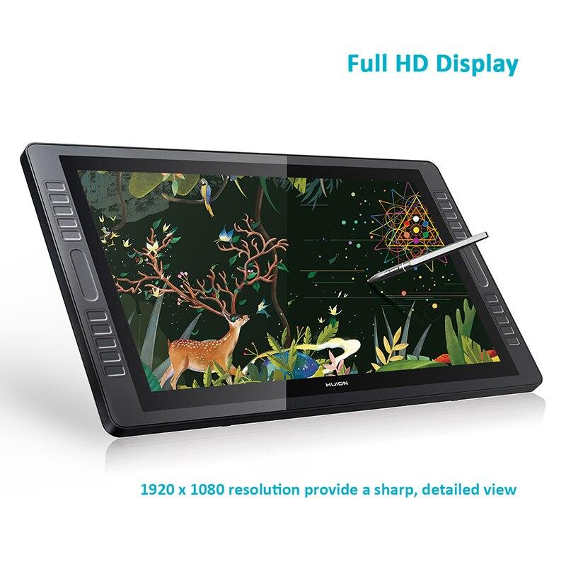 Huion kamvas GT-221 pro caneta display tablet monitor de gráficos desenho monitor 21.5 polegada 8192 níveis com presentes gratuitos