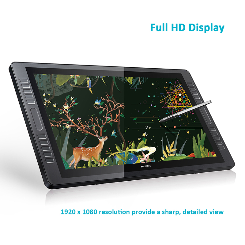 Huion KAMVAS GT-221 Pro Pen Tablet Display Monitor Monitor de Gráficos de Desenho 21.5 polegada 8192 Níveis com Brindes