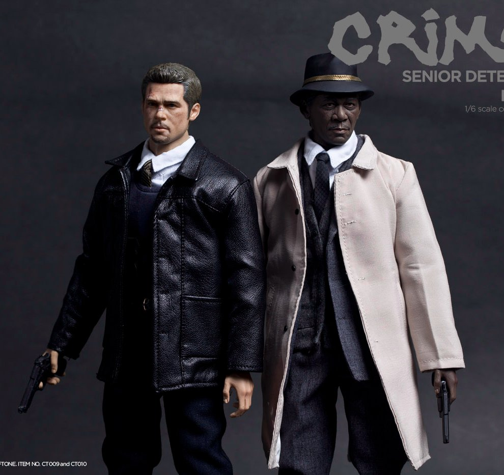 1/6 scale doll Se7en Detective Morgan Freeman or Brad Pitt.12 action figure doll collectible.price for one. not include chair 1 6th collectible figure doll se7en detective morgan freeman