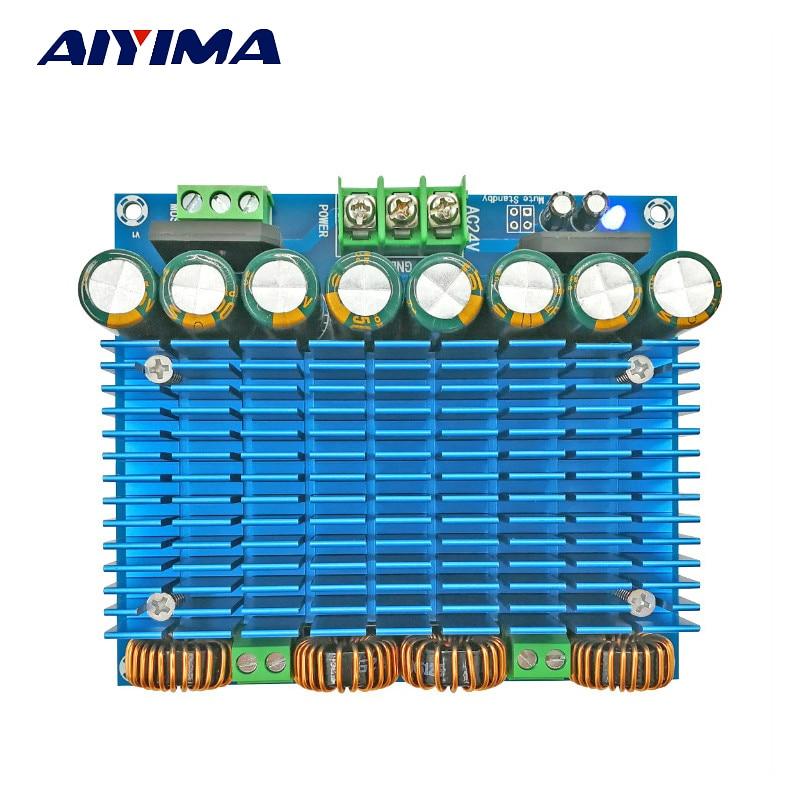 Aiyima TDA8954TH Audio Amplifier Board Amplificador Class D Dual-channel Digital Amplifier Board 420W * 2 aiyima 12v tda7297 audio amplifier board amplificador class ab stereo dual channel amplifier board 15w 15w
