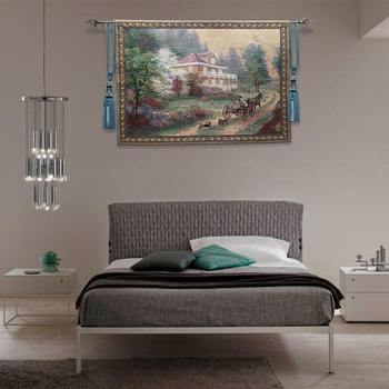 """Belgium tapestry Pastoral scenery,""""A holiday"""",The sitting room tapisserie,100X138CM, GT-DJ0019"""