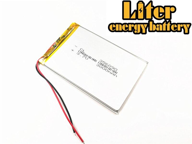 3000 Mah 356090 336090 3,7 V Li-ion Batterie Für Tablet Pc 7 Zoll 8 Zoll Geeignet FüR MäNner Und Frauen Aller Altersgruppen In Allen Jahreszeiten polymer Lithium-ionen Batterie
