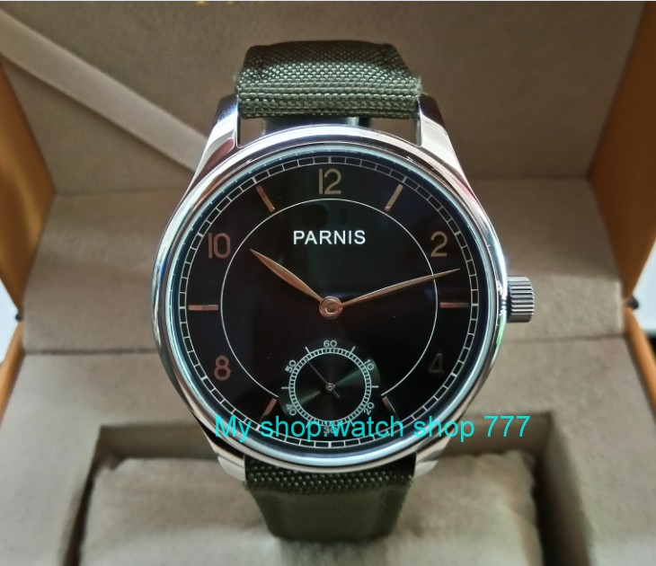 44mm PARNIS ST3621/6498 Mechanical Hand Wind movement Mechanical watches Gray dial men