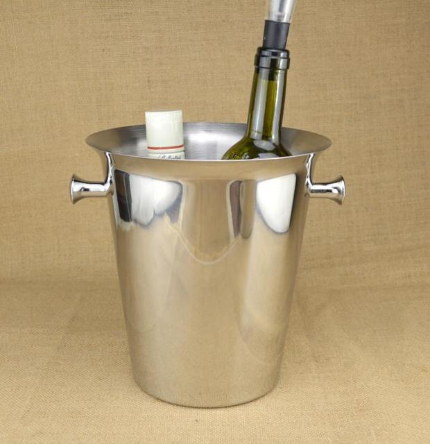 Stainless steel/5L/An ice bucket/Champagne Bucket/Ice grain bucket/KTV beer barrel/ice bucket/Wine barrel/z