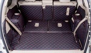 Image 5 - Volledige set kofferbak matten & back deur mat voor Toyota Land Cruiser Prado 150 7 zetels 2018 2010 cargo liner boot tapijten