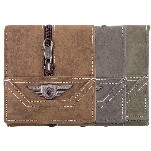 Vintage Design Men Personal Wallet Canvas Big Capacity Credit Crad Holders Money Bag For Male 3 Colors Optional